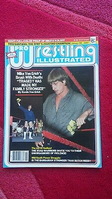 Pwi Wrestling Magazine February 1986 Mike Von Erich Front Cover.