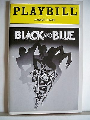 BLACK AND BLUE Playbill LINDA HOPKINS / RUTH BROWN / CARRIE SMITH NYC 1989