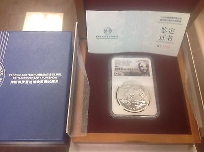 2015 NGC PF69 FUN SHOW 1st Reverse Proof 1 oz .999 China Silver Panda/Box&C.O.A.