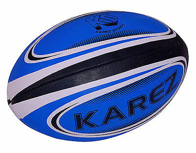 Karez PU Leather Hand Stitch 2 Ply Promotion Rugby Ball,4 Panel- Size 5