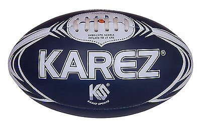 Karez Hand Stitch Cotton With Rubber 2 Ply Training Rugby Ball For Kids ,4 Panel