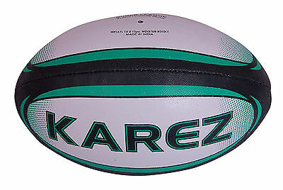 Karez Hand Stitch PU Leather 2 Ply Promotion Rugby Ball,4 Panel- Size 5