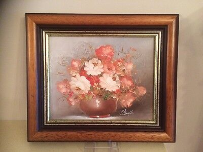 Oil Painting By Stemple, Vintage? Pretty Shabby Chic