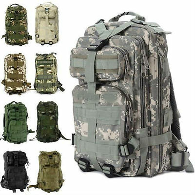30L 3P Outdoor Military Rucksacks Tactical Backpack Camping Hiking Bag LOT NEW #