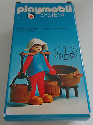 "Rare vintage 3372 Playmobil System ""Water Carrier Lady"" NEU NEW MIB NEUF"