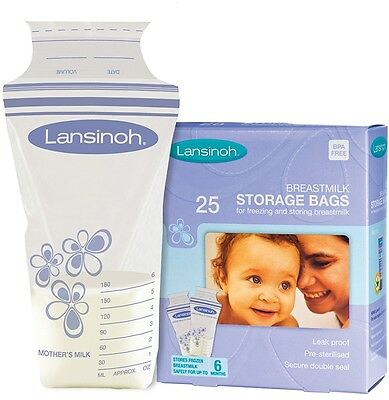 Lansinoh Leak proof Pre-sterilised Baby Breastmilk Milk Storage Bags