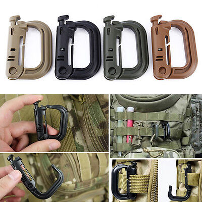 5pcs Ideal Carabiner D-Ring Key Chain Keychain Clip Hook Outdoor Buckle