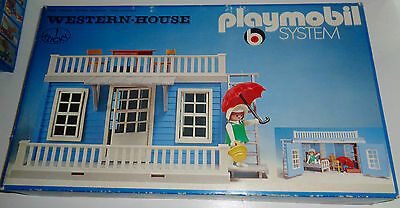 "Rare vintage 1976 Playmobil System 3421 ""Blue Western House"" NEW MIB SEALED NEUF"
