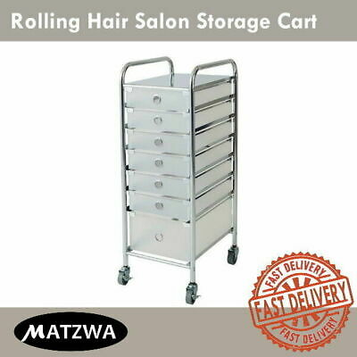Beauty Salon Trolley Cart Organizer With 7 Drawers Stand Pedicure Manicure Spa