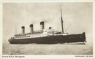 RP Card CUNARD LINE R.M.S. BERENGARIA - Unposted