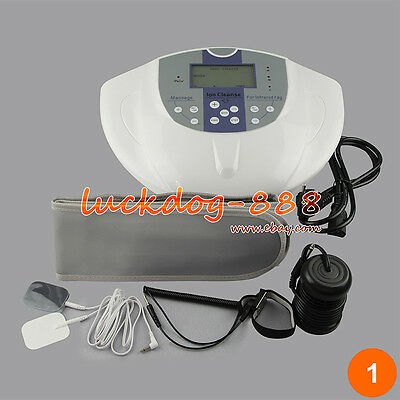 Ionic Foot Detox Machine Bath Spa Cell Cleanse Machine + Infrared Belt + Pads