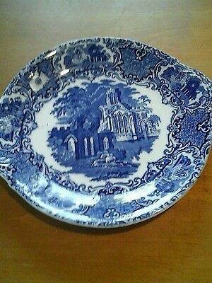 Antique George Jones and sons blue and white cake/sandwich plate c1910