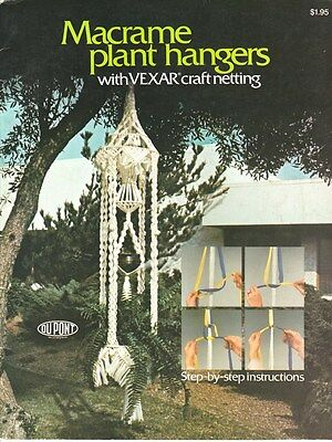 "Vintage 1976 Macrame Pattern Book ""macrame Plant Hangers"" There Are 13 Projects"