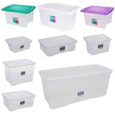 Clear Plastic Storage Boxes Large Stacker Box Containers