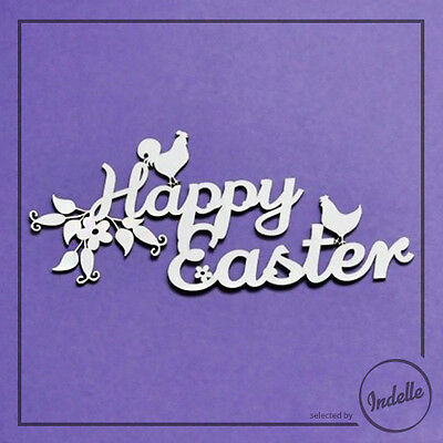 Happy Easter Chipboard Shape Card Making Embellishment Papercraft Scrapbooking