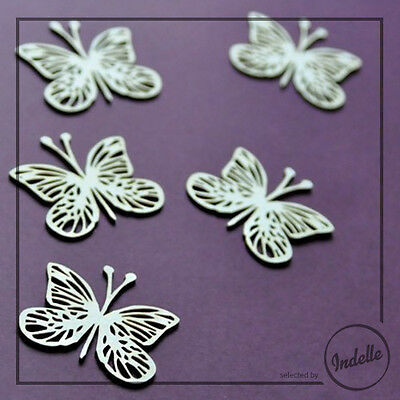 Butterflies Chipboard Shapes Card Making Embellishment Scrapbooking 5 Pack