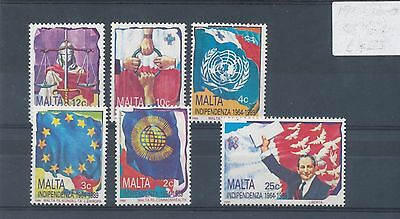 Malta 1989 25th Anniv of Independence set of 6