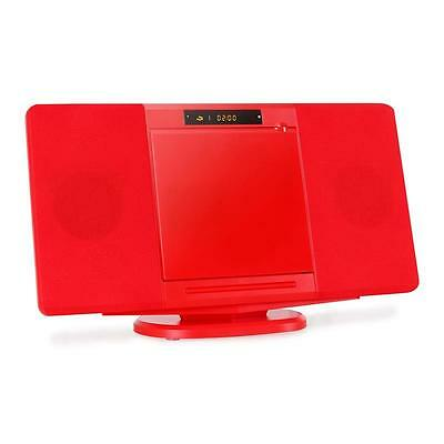 Inovalley Compact Hifi Stereo Audio Usb Sd Mp3 Cd Player Usb Fm Radio Red