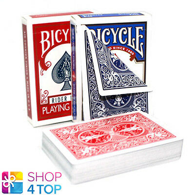 2 Decks Bicycle Rider Blue & Red Double Back No Face Magic Tricks Playing Cards