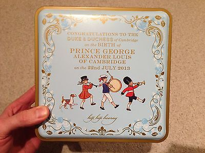 Commemorative Biscuit Tin for Birth of Prince George, Marks and Spencer brand.
