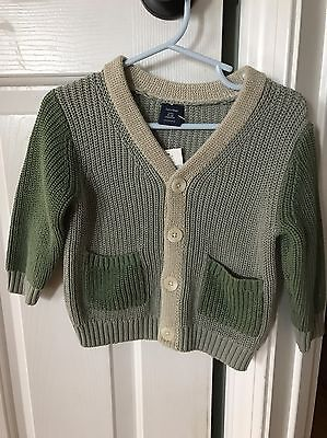 NEW BABY GAP Infant BOYS Green Cardigan SWEATER Size 6-12 M St. Patricks Day!