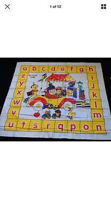 "Noddy Alphabet Play Mat - wipe clean 45"" x 49"" Paint / Food / Play . Brand New"