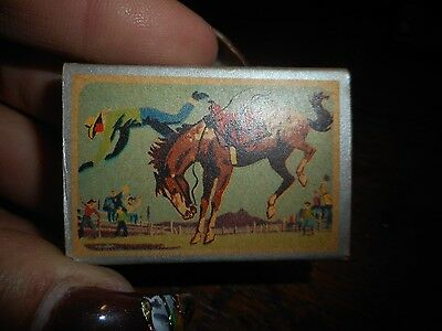 Vintage 1963 Matchbox With Cowboy & Bucking Horse Cover