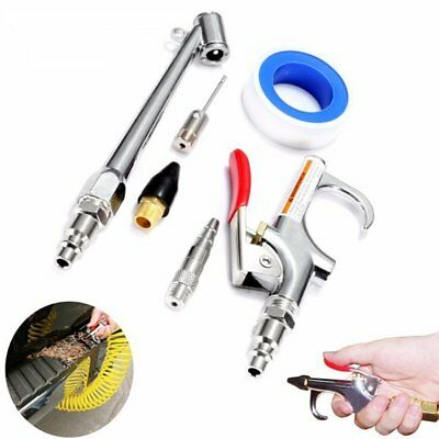 [NEW] 10Pcs Car Compressor Air Duster Blow Gun Cleaning Tool Kit With Gas Nozzle