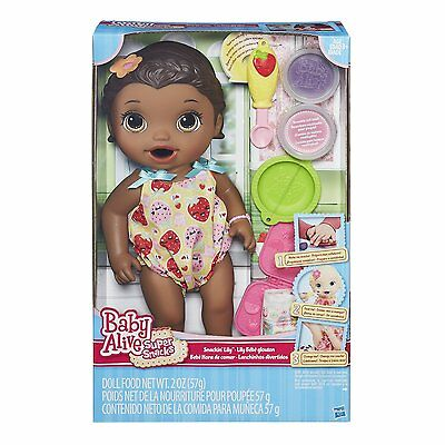 NEW - Baby Alive Super Snacks Snackin' Lily (African American)