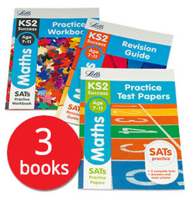 Letts KS2 Maths SATs Revision Help Collection - 3 Books