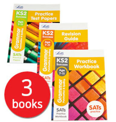 Letts KS2 Grammar SATs Revision Help Collection - 3 Books