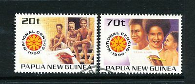 Papua New Guinea 1990 National Census set of 2 used