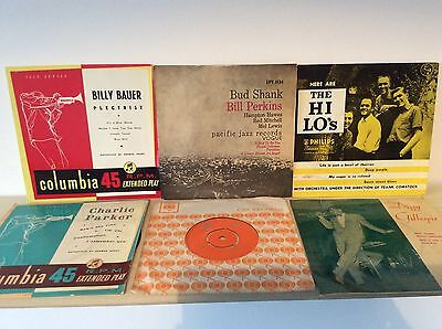 6 X Jazz Assortment Ep / Records 45/74 1950's - Charlie Parker, Billy Bauer...