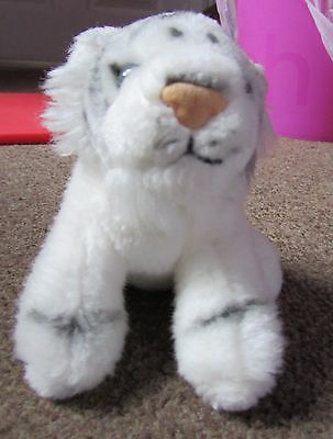 Small, Cute White Tiger Soft Toy