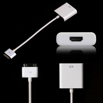 Dock Connector to AV HDMI Adapter Cable HDTV TV For iPad 2 3 iPhone 4/4S Hot