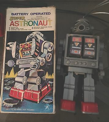 Vintage Silver Storm trooper Astronaut Battery Operated