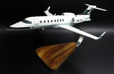 Cathay Pacific Learjet 45  Reg: VH-CXJ  Airplane Wood Model     Free shipping!!!
