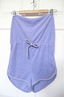 Vintage pastel purple terry cloth romper play suit roller babe 70s 60s foxy boho