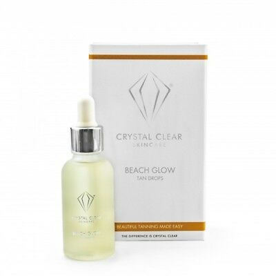 Crystal Clear Skin Care Beach Glow Tan Drops Beauty Skincare Tanning 30ml