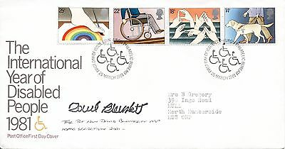 Disabled People fdc 1981 SIGNED David Blunkett