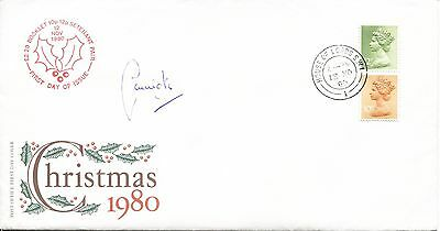 Christmas fdc 1980 SIGNED Lord Carrington, House of Lords pk
