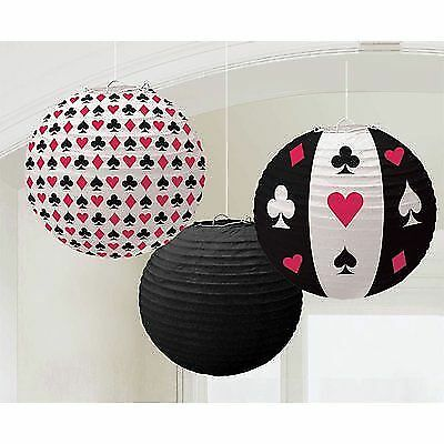 Lampion Laternen Dekoration Casino Las Vegas Deko Black Jack Deko Party Feste