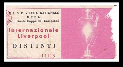 Internazionale Inter Milan V Liverpool Ticket European Cup Semi 1965