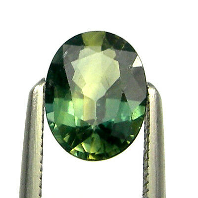 0.85 carat Oval Green/Blue/Yellow Natural Aus Parti Sapphire Gemstone, OPS39