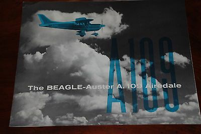 original Beagle-Auster A.109 Airedale hand book/manual.Great condition