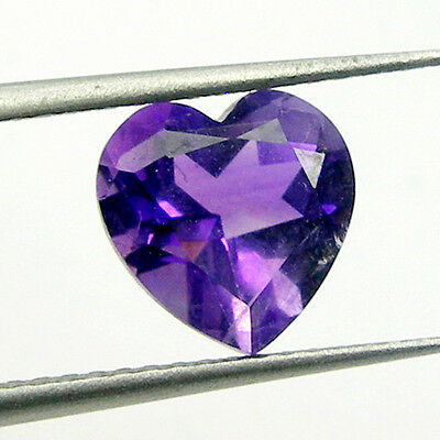 Heart Shape Cut Natural Amethyst Loose Gemstone - Light to Deep Purple Colour