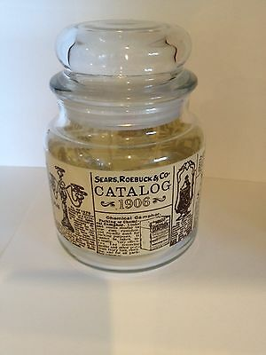 Sears  Roebuck & Co Catalog Vintage Look Canister Jar With Lid - Advertisements