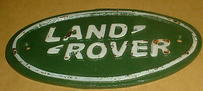 Cast Iron Land Rover Sign