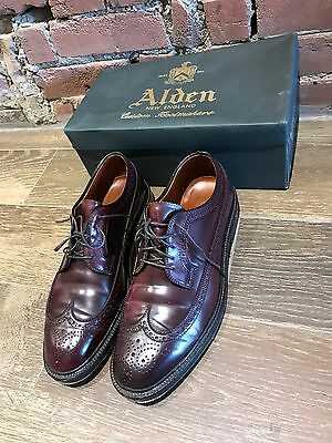 Alden Longwing Shell Cordovan No. 8  and Shell Cordovan Black Size 9D - 2 Pairs
