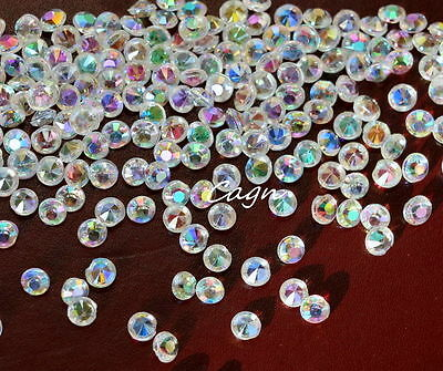 3000 Iridescent CLEAR WEDDING TABLE SCATTER CRYSTALS DIAMOND Confetti